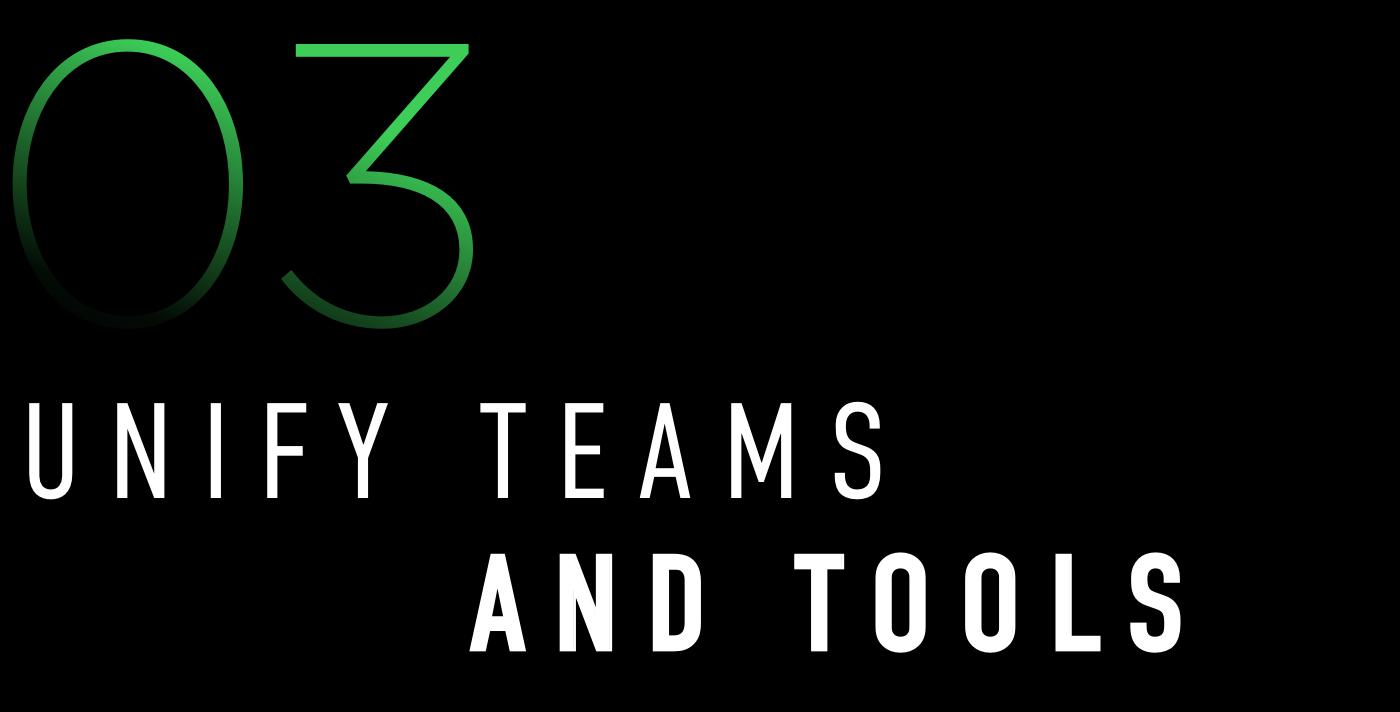 3. Unify Teams And Tools