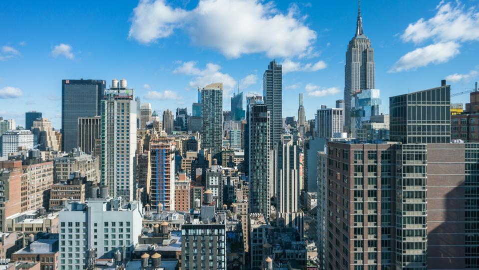 High Angle Midtown Manhattan Skyline - New York