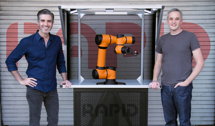 Rapid Robotics cofounders Jordan Kretchmer (left) and Ruddick Lawrence