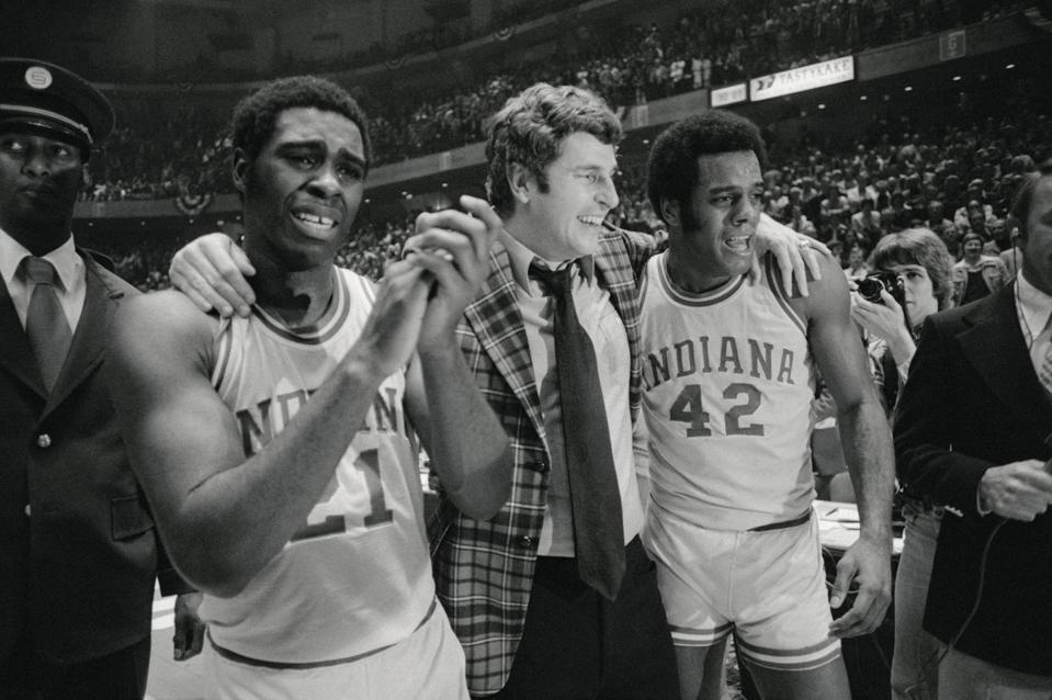 Bobby Knight Being Walked Off in Jubilation
