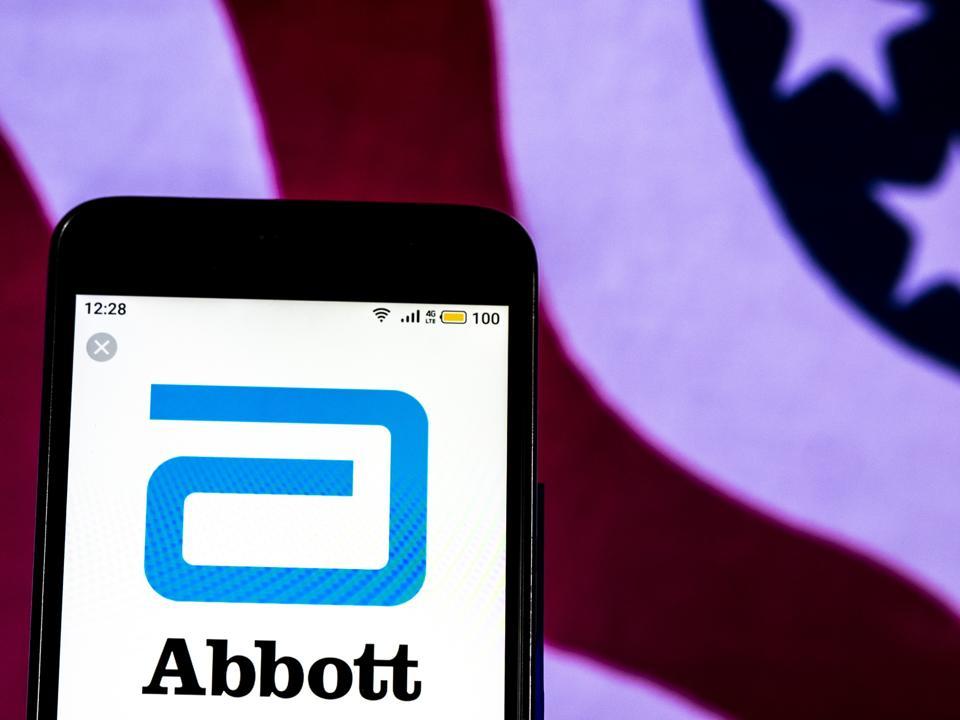 Abbott Laboratories Pharmaceutical company logo seen
