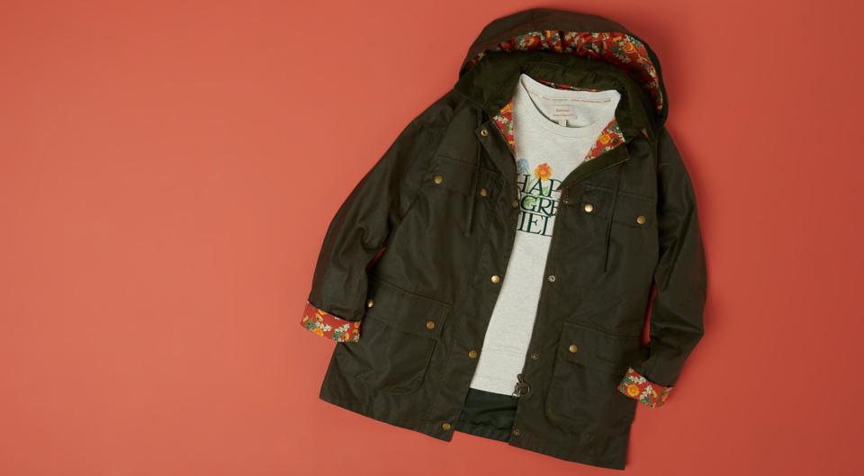 Barbour X Emma Bridgewater Meadows Wax Jacket