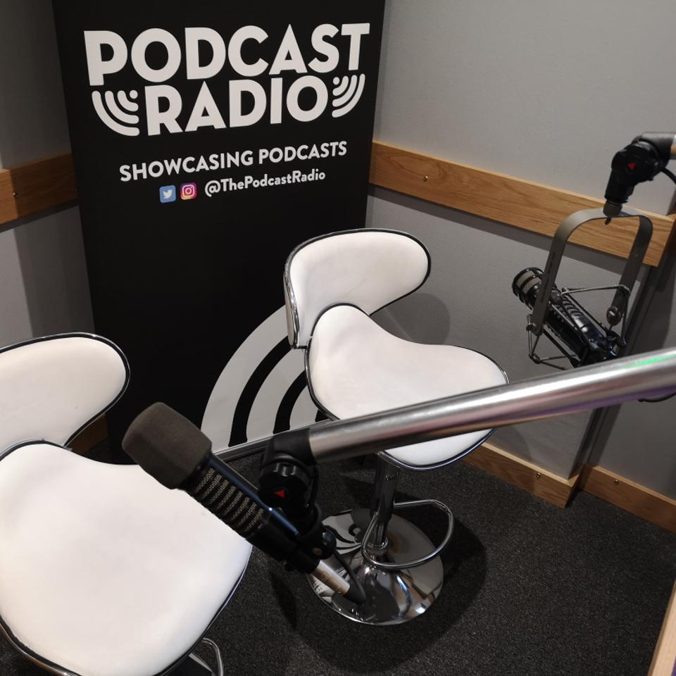 Shot of Podcast Radio studio