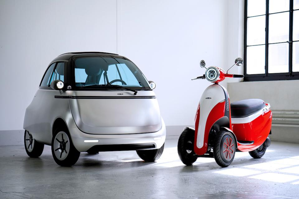 The Microlino and Microletta three-wheeled electric scooter