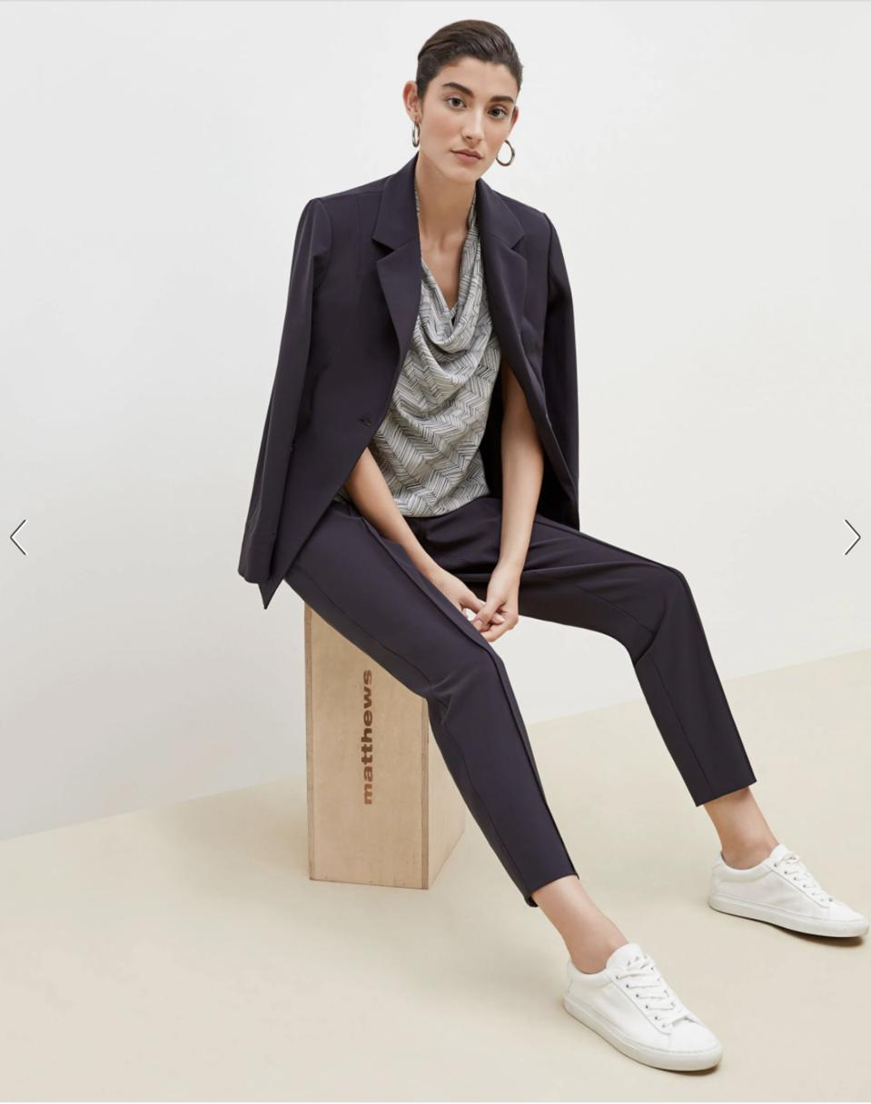 The Best Suit For Women: The Koio Capri Low-Top Sneakers—Leather - White