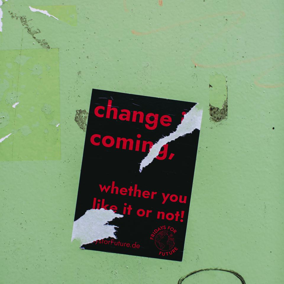 Torn Poster ″Change is Coming″