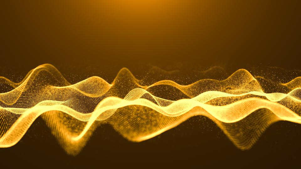 Motion Abstract background,particles wave curve Digitally generated abstract background animation for Business science and Technology