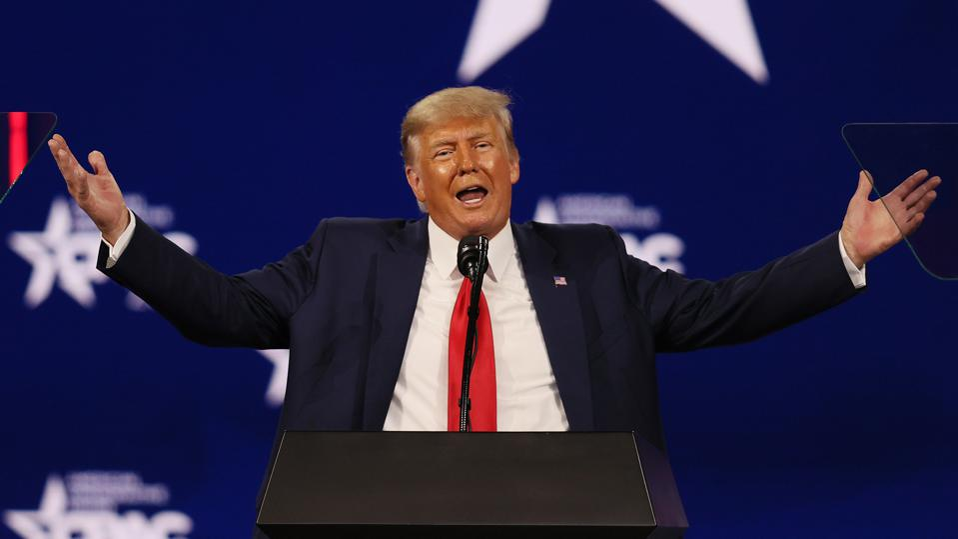 Donald Trump at CPAC speech