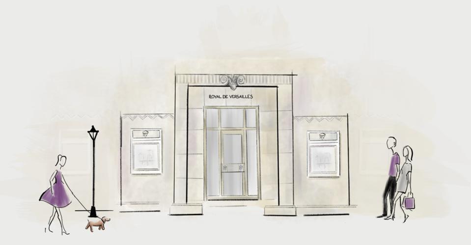 Royal De Versailles store front sketch image