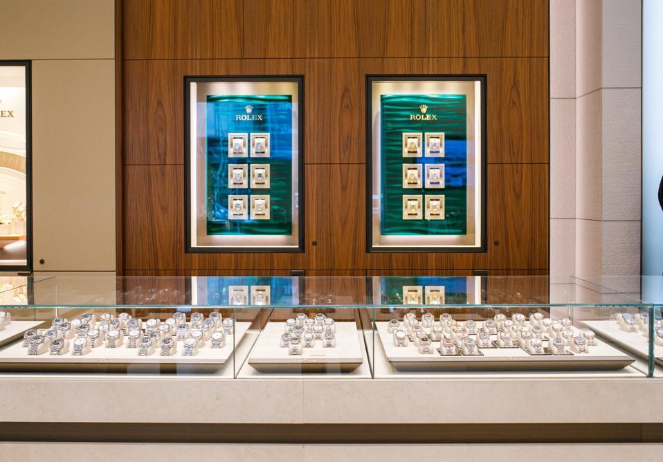 Large Rolex display inside Royal De Versailles