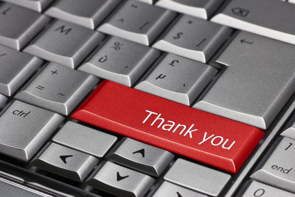 Computer Key - Thank You