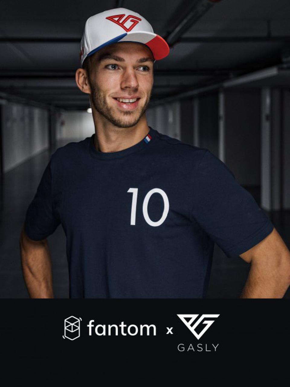 Pierre Gasly announces sponsorship with Fantom.