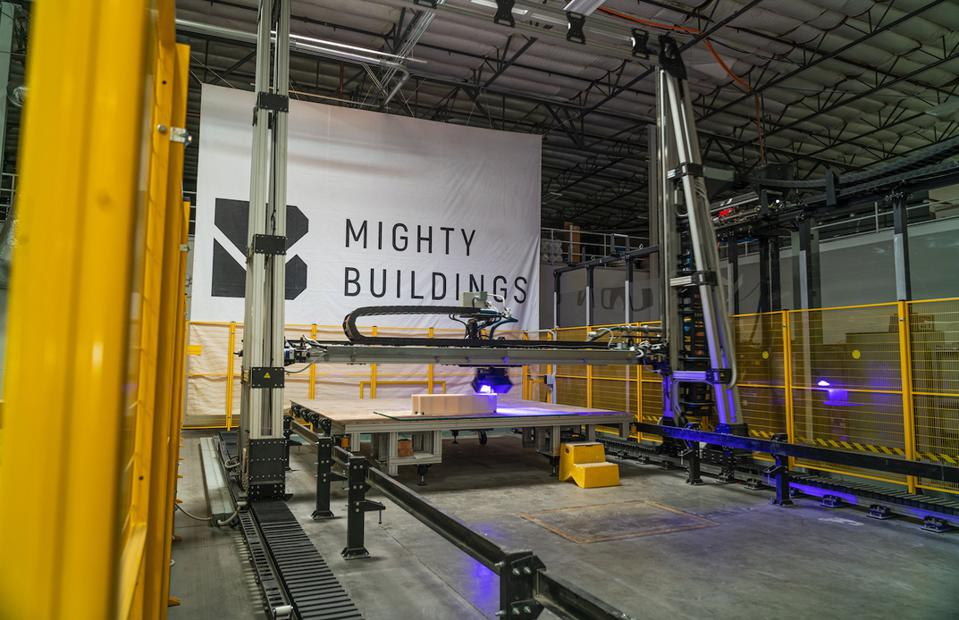 3D printer in Mighty Buildings factory