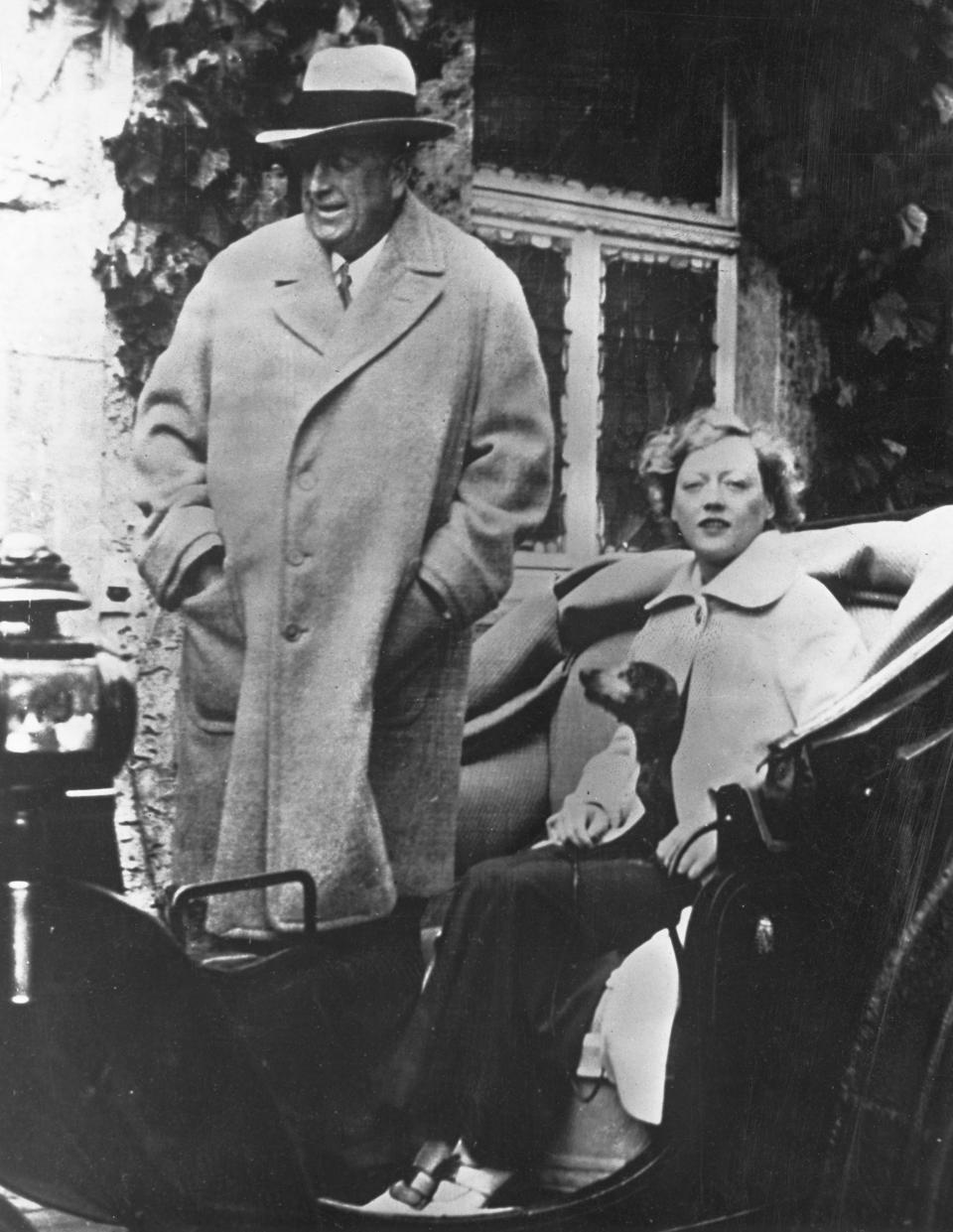 William Randolph Hearst with Marion Davies