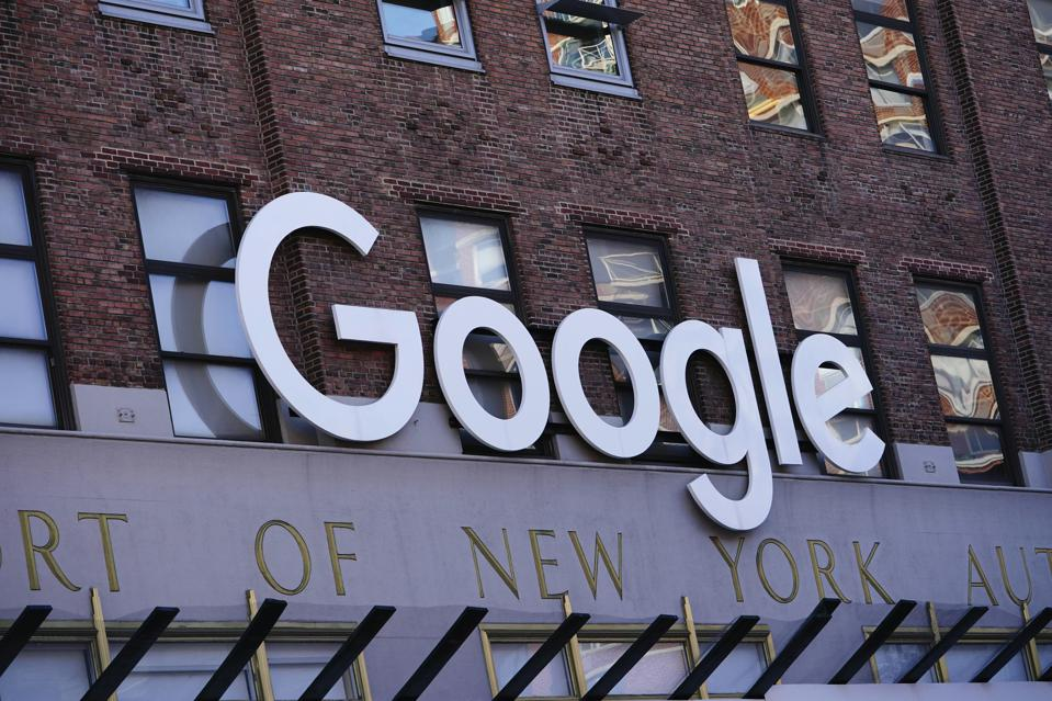 Google logo on office in New York