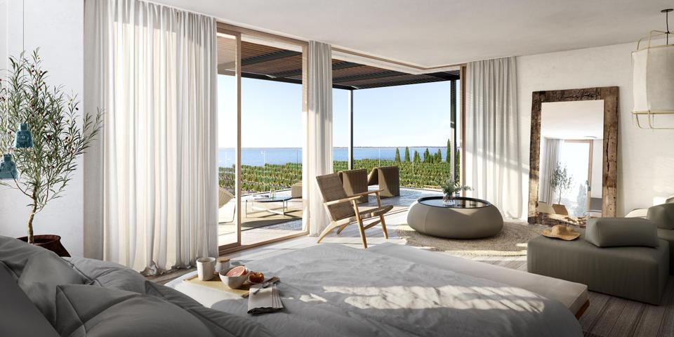 Villa bedroom at LUX* La Baraquette and Residences