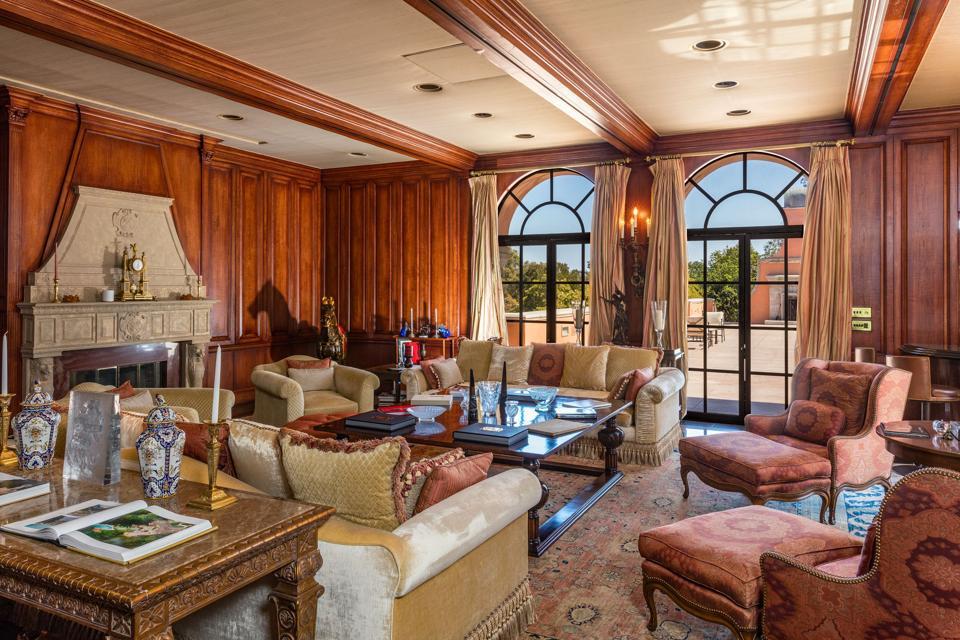 office inside hearst estate in beverly hills