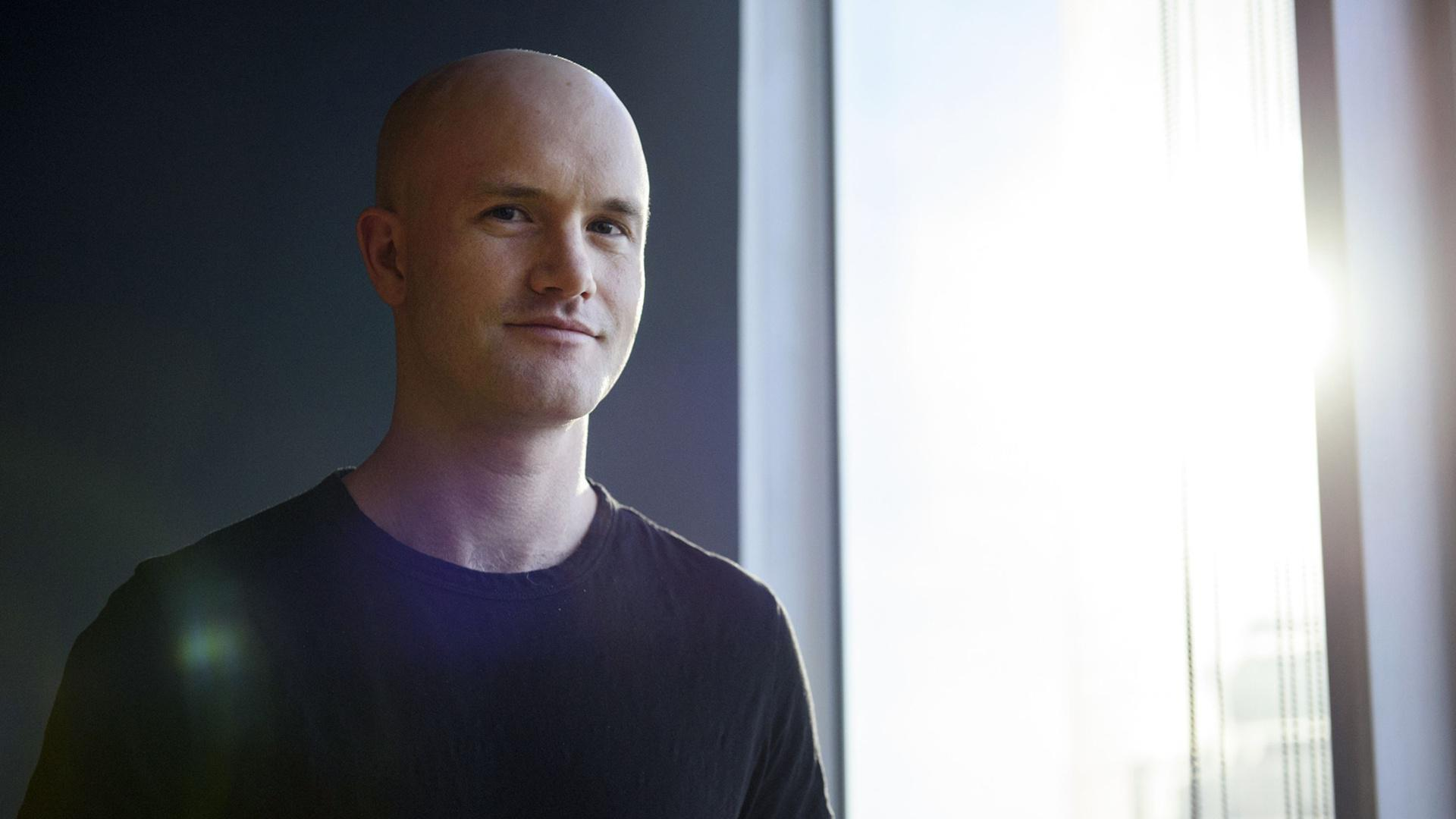Pictured is Brian Armstrong, CEO and cofounder of Coinbase.
