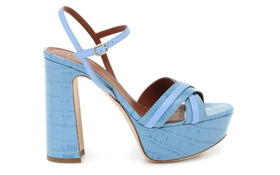 Mila 125 Leather Platform Sandals by Malone Souliers