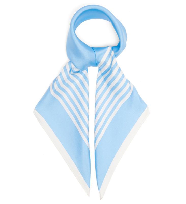 No. 25 Striped Silk-Twill Scarf by Lescarf: