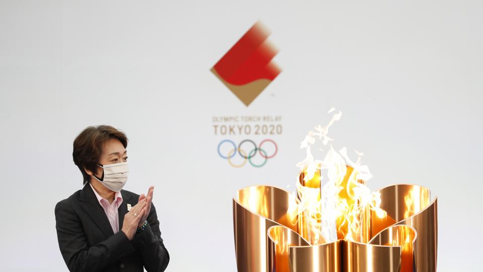 APTOPIX Olympics Tokyo Torch Relay Start