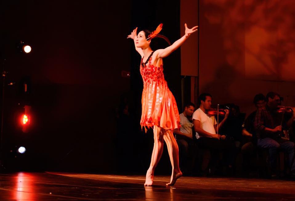 """Catie Cuan dancing in Stravinsky's """"Firebird"""", October, 2014."""