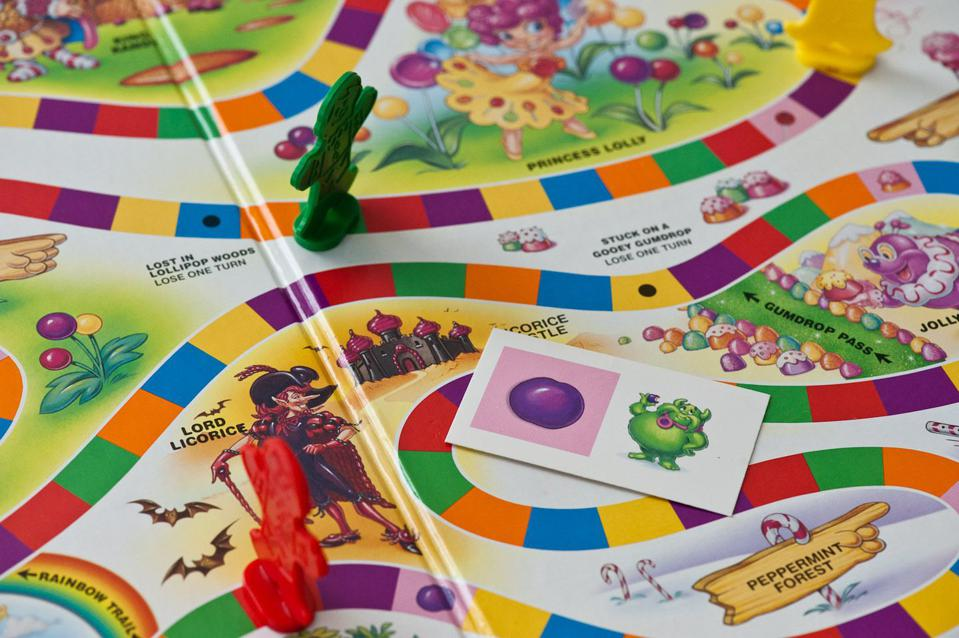 bright image of board game with pieces on it
