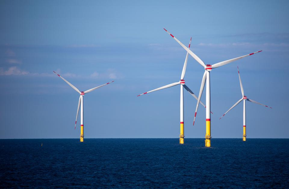 Wind farm in the Baltic Sea