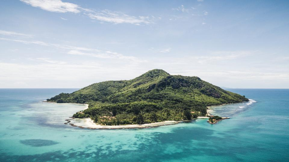 The island of Club Med Seychelles.