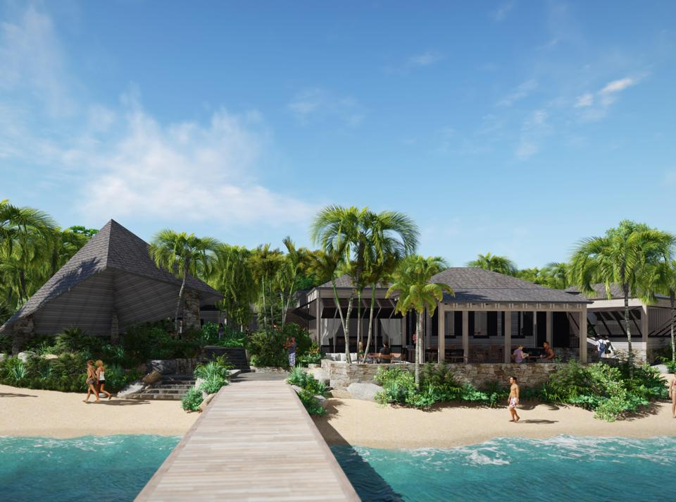 A private villa at Rosewood Little Dix Bay.