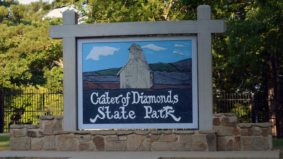 Crater of Diamonds Sign