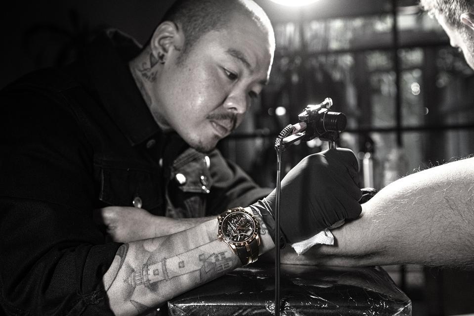 Los Angeles tattoo artist, Dr Woo
