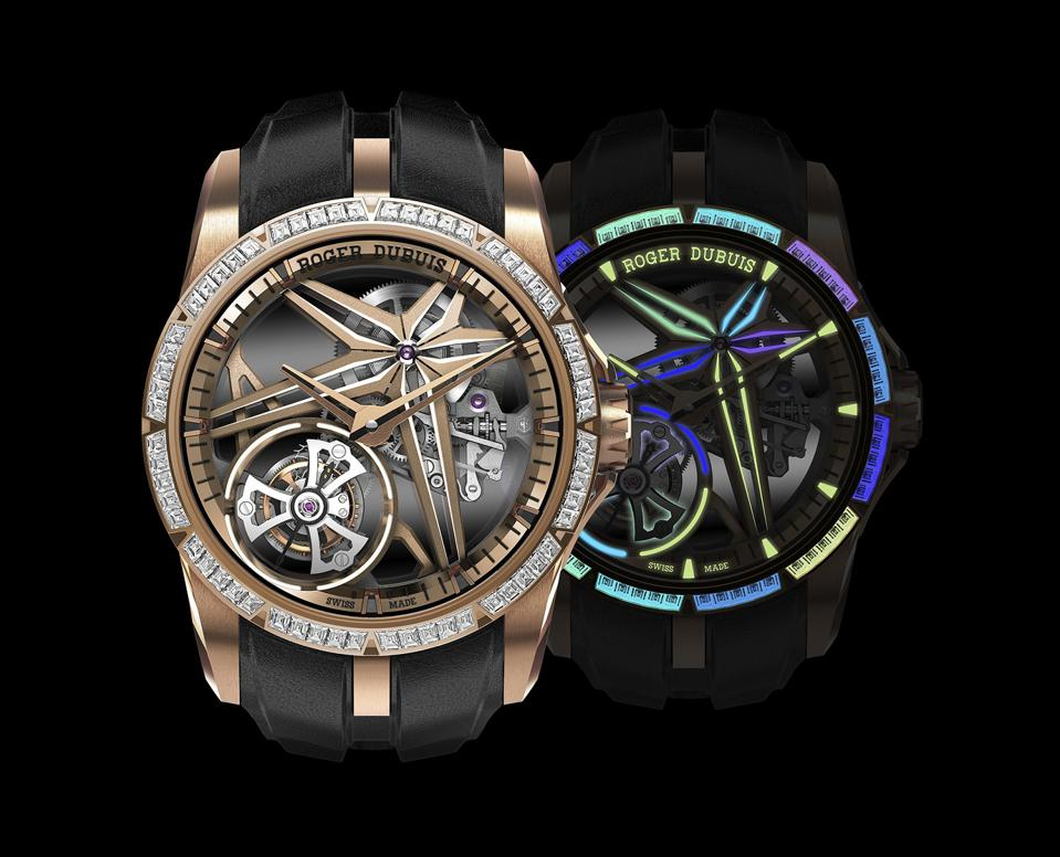 The Excalibur Glow Me Up is the first watch with luminescent diamonds in different shades