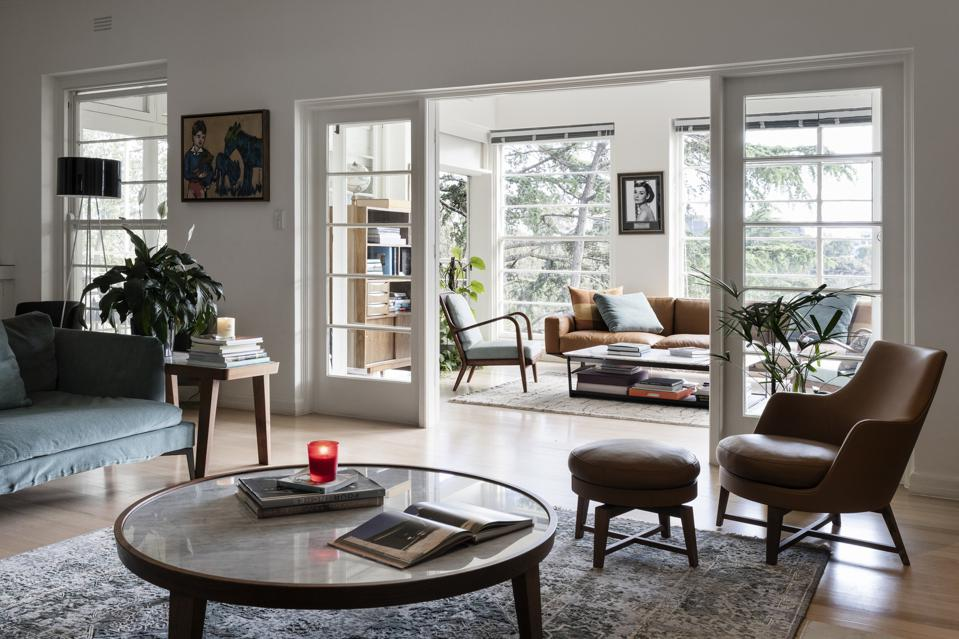 living room inside 7 Edzell Avenue Toorak, Victoria, Australia
