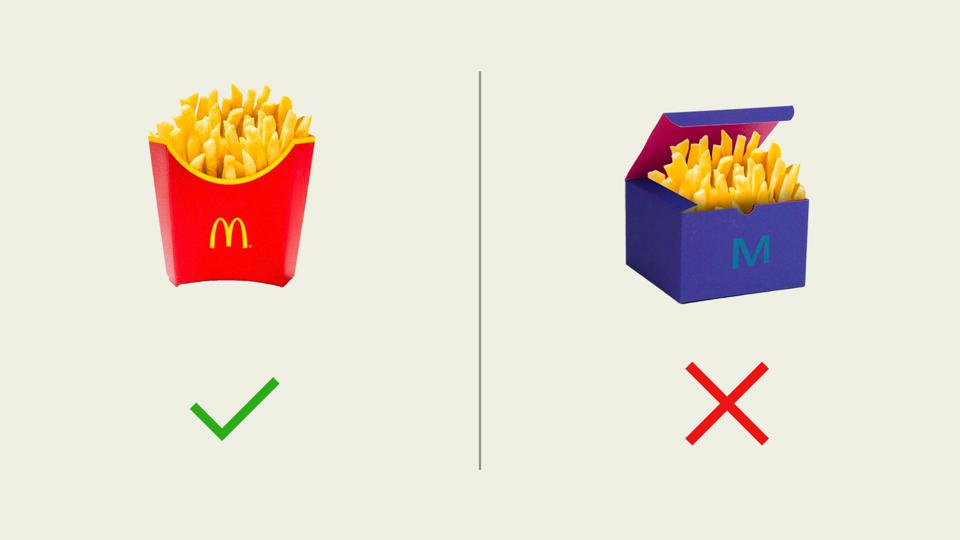 design system showing McDonalds french fries in different packaging