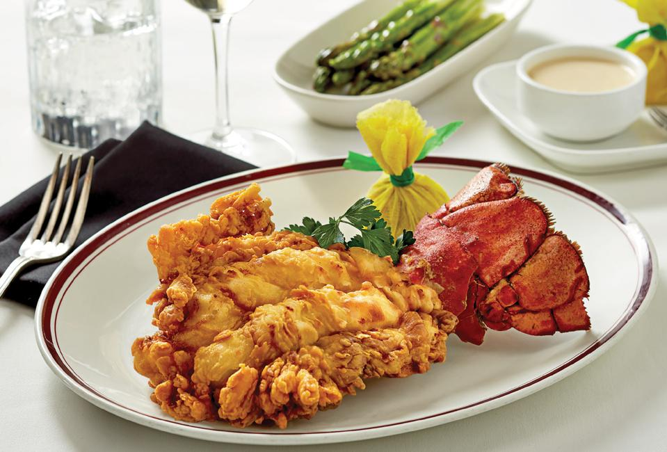Special fried lobster tail at Chop's Lobster Bar in Boca Raton