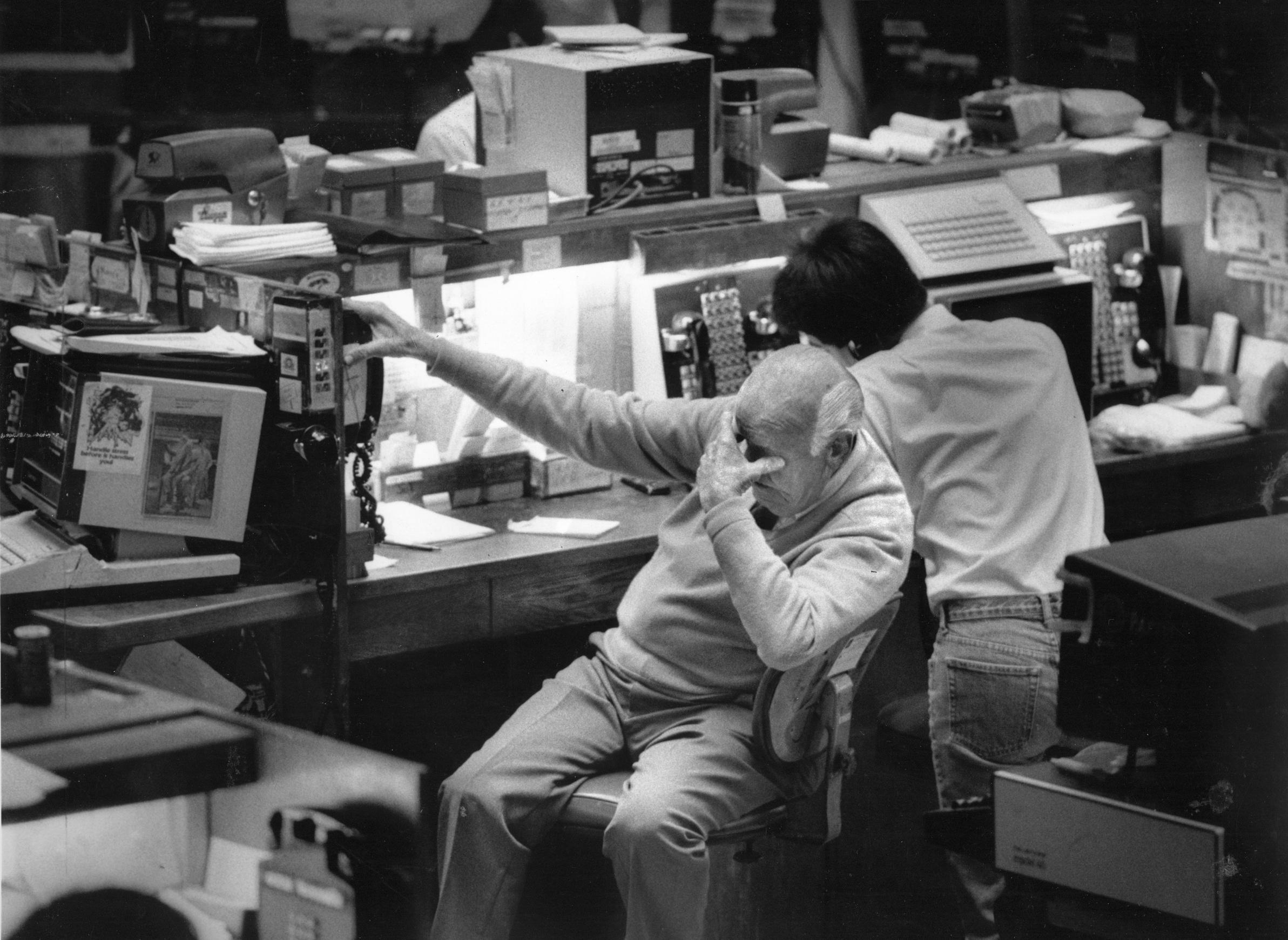 Bursa Efek Pasifik pada ″ Black Monday ″, hari di mana Pasar Saham turun 509 poin dalam satu hari.