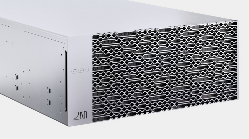 The Envise blade, by Lightmatter, offers 16 Envise chips in a 4U server configuration that uses only 3kW of power.