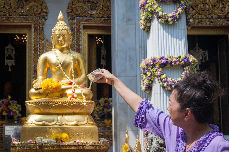 Songkran, Thailand's New Year, takes place primarily in mid-April.