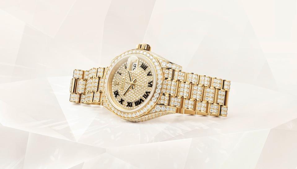 The stunning gem-set Lady Datejust features 1,089 diamonds