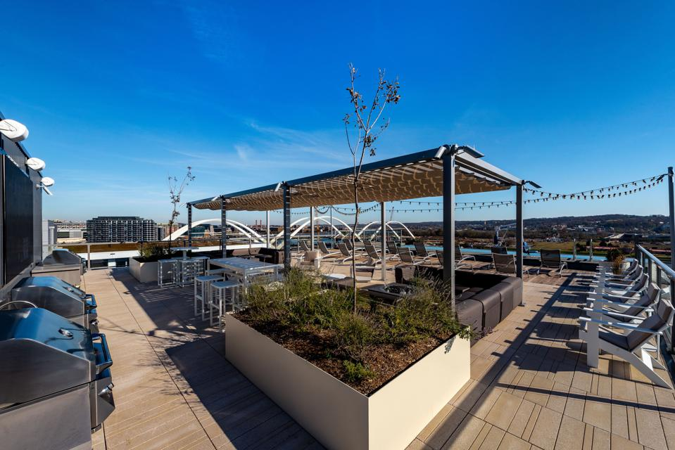 The rooftop deck at Watermark in Buzzard Point.