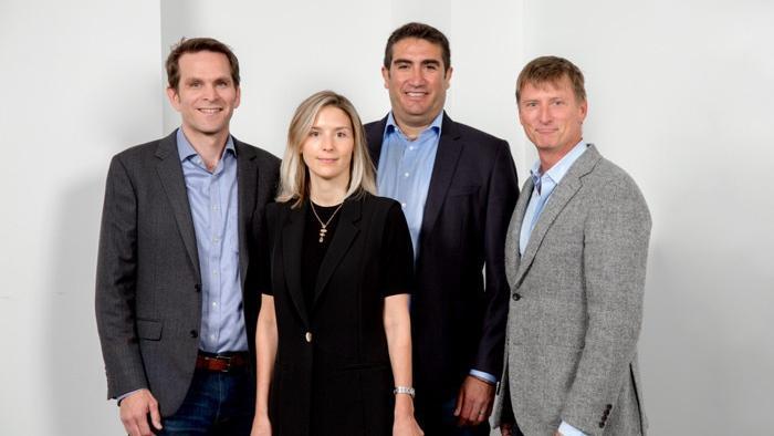 Firefly Health's Jeff Greenberg (L), Fay Rotenberg, Andy Ellner, Jonathan Bush (R).