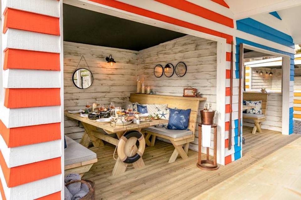 beach huts interior