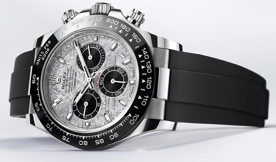 New Rolex Daytona with meteorite dial.