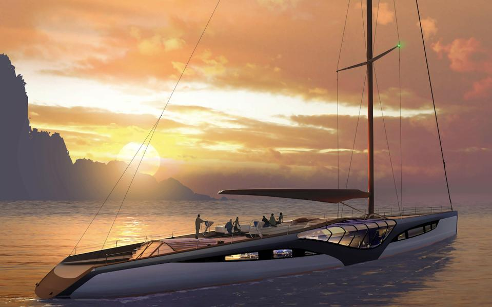 EXO sailing superyacht concept from Claydon Reeves/Dykstra Naval Architects
