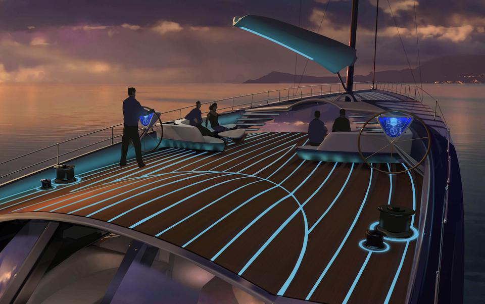 The EXO sailing superyacht concept from Claydon Reeves/Dykstra Naval Architects is inspired by nature