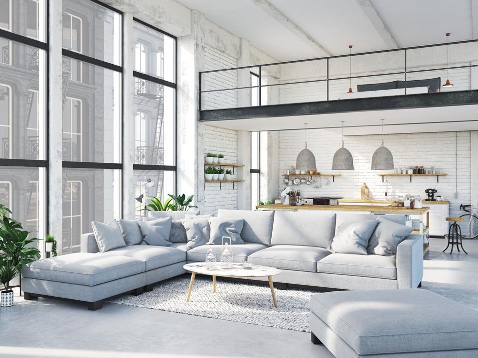 modern loft apartment.