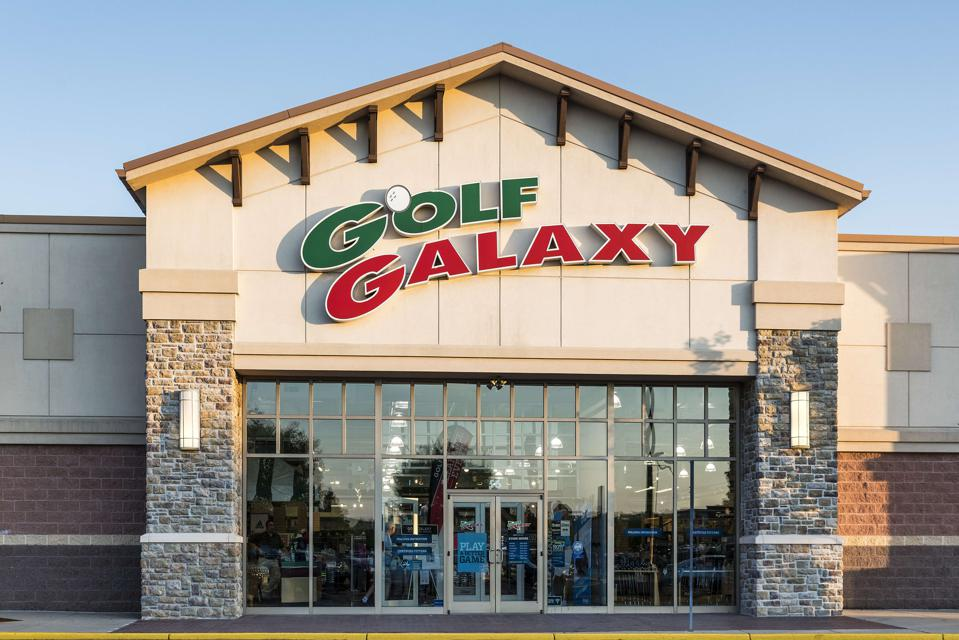 Golf Galaxy specialty retail store...