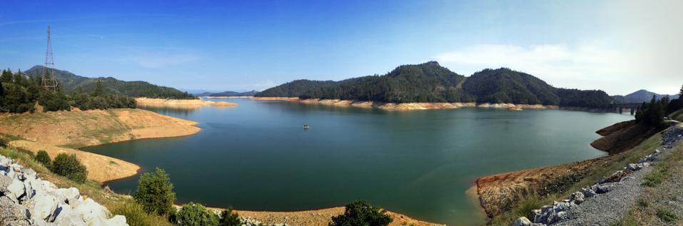 Shasta Lake, California (50 percent full)