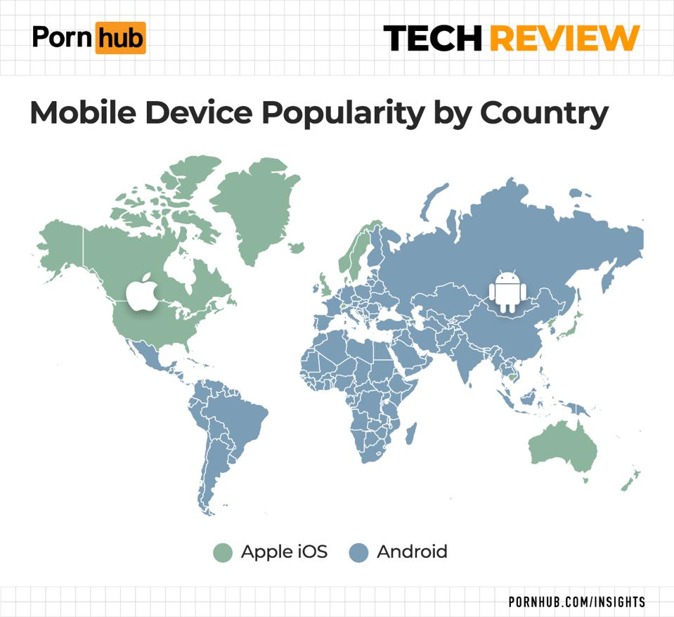 Apple vs. Android world map